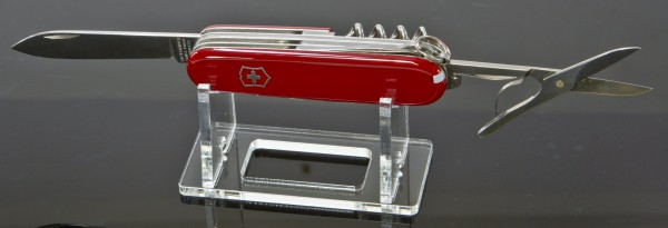 Taschenmesser-Ständer aus transparentem Acrylglas