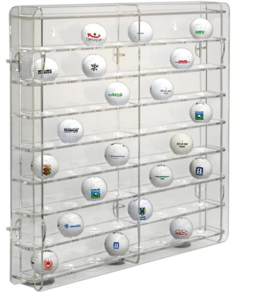 Golfballvitrine transparente Rückwand Bild 3