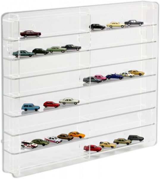 Modellautovitrine für 1 zu 87 und Trucks Rückwand transparent Bild 5