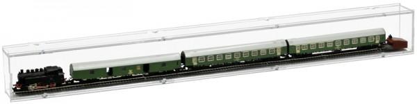 ModelIbahnvitrine TT Segment 75cm Rückwand transparent Bild 3