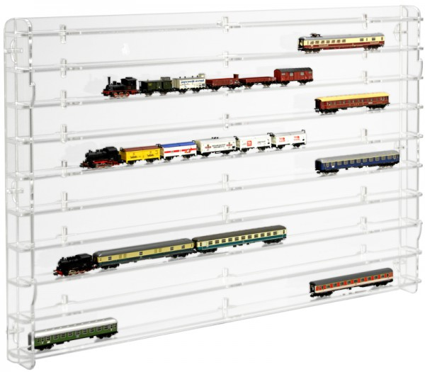 Modellbahnvitrine Spur N Rückwand transparent Bild 3