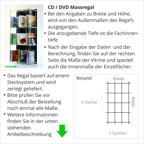 CD / DVD Maßregal