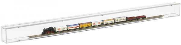 ModelIbahnvitrine N Segment 99cm Rückwand transparent Bild 4