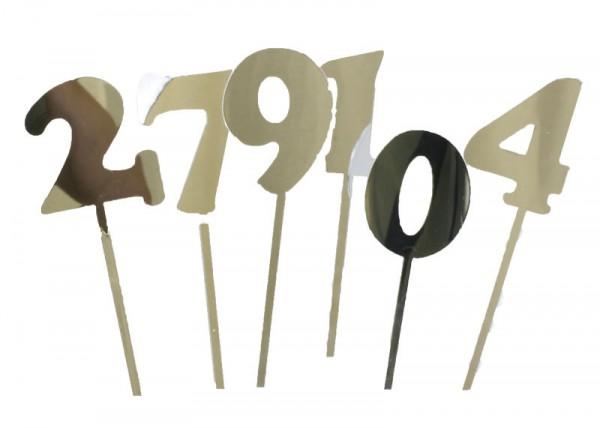 Zahlen-Stecker verspiegelt: 0 bis 9
