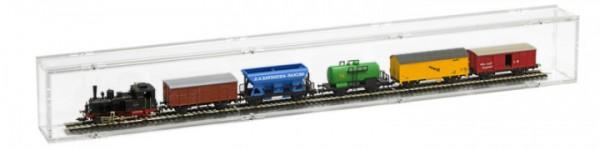 ModelIbahnvitrine H0 Segment 75cm Rückwand transparent Bild 4