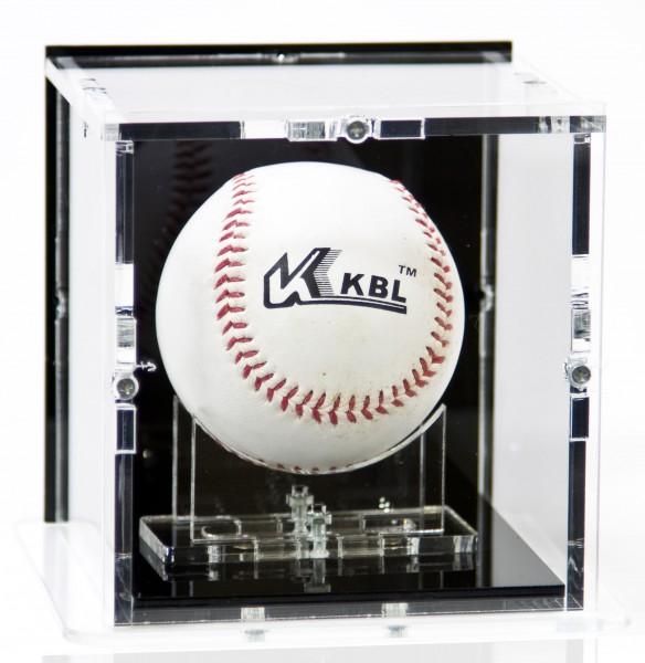 Baseball Vitrine mit schwarzem Boden und schwarzer Rückwand Bild 1