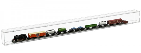 ModelIbahnvitrine TT Segment 99cm Rückwand transparent Bild 3